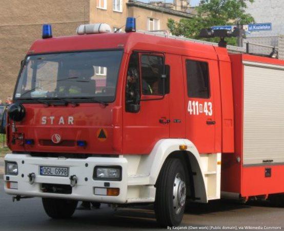 KPPSP Zawiercie:      Szkolenie podstawowe strażaków ratowników OSP - zajęcia z zakresu operowania prądami gaśniczymi i sprawiania linii wężowych